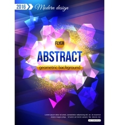 Geometric Background template for creating Modern vector image vector image