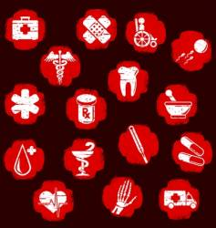 grunge medical buttons vector image vector image