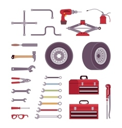 Set of car toolls vector image vector image