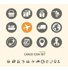 Shipping Logistics and cargo icon set vector image vector image