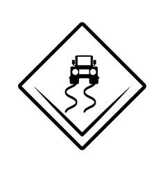 Slippery road traffic signal vector