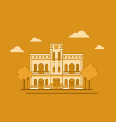 a classic style house with columns vector image