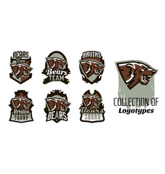 a collection of logos emblems of an aggressive vector image