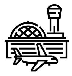 Airport line vector