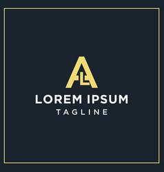 Al monogram logo vector