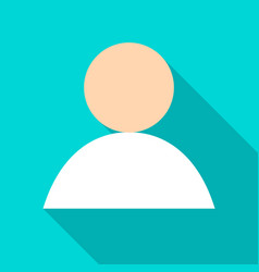 Anonymous user flat icon vector