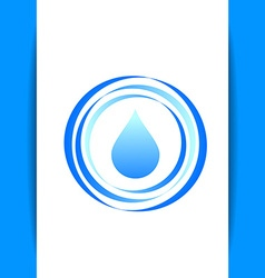 aqua water drop template vector image