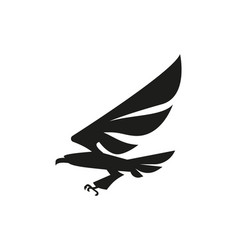 black eagle icon design vector image