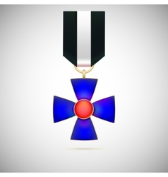 Blue Cross of a military medal vector