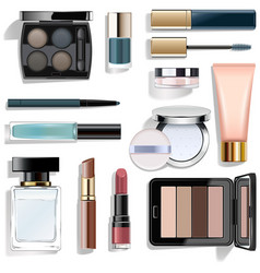 blue makeup collection vector image