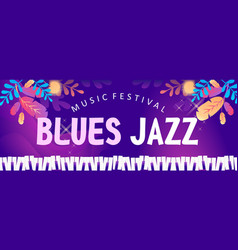 blues jazz banner vector image