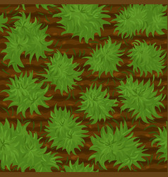 Bushes seamless pattern soil texture with green vector