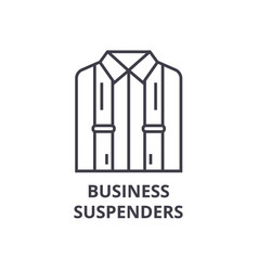 business suspenders line icon outline sign vector image