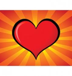 Cartoon heart vector