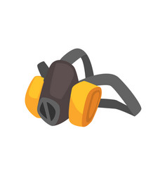 Cartoon miner s protective dust mask vector