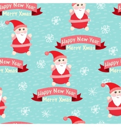 Christmas and New Year seamless background vector image