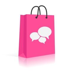 Concept Shopping Talks Customer Feedback Shopping vector