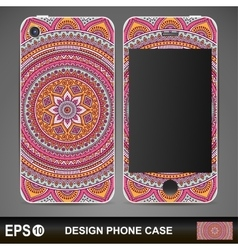 cover phone abstract ethnic background vector image