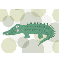 cute crocodile cartoon isolated vector image
