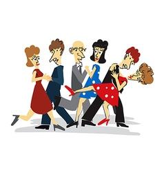 Dancing couples cartoon vector