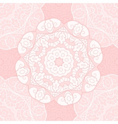 Delicate lace seamless pattern vector image