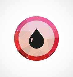 drop circle pink triangle background icon vector image