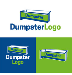 Dumpster logo and icon vector