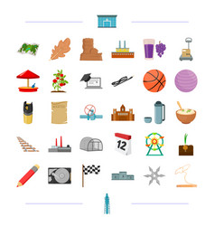 Education travel transportation and other web vector