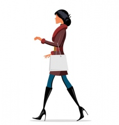 fashionable lady vector image vector image