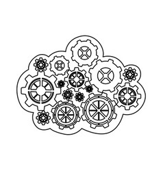 figure gears icon image vector image