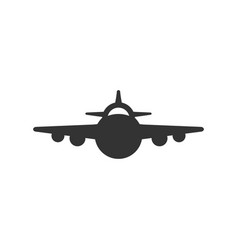 front view plane glyph icon vector image
