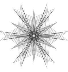 Geometric pattern icon star astrology pentagram vector