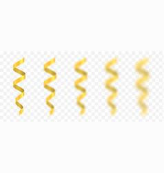 Golden confetti ribbons vector