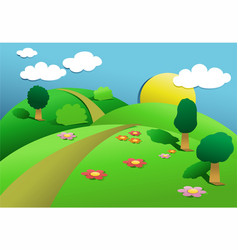 green country landscape vector image