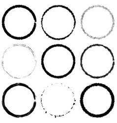 grunge rings set vector image
