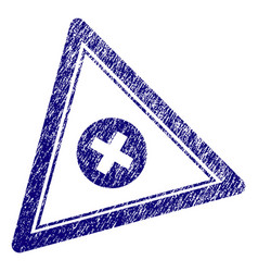 grunge textured cancel triangle stamp seal vector image