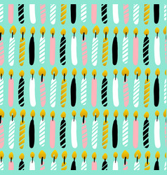 happy candles seamless pattern vector image