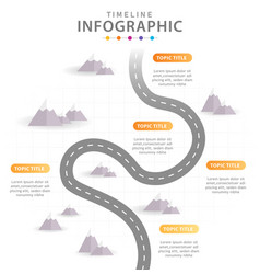infographic template for business 6 steps modern vector image