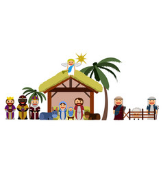 isolated manger vector image