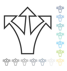 Junction arrow up icon vector