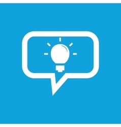 Light bulb message icon vector