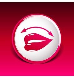 Lips icon isolated on white background vector image