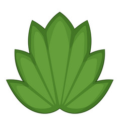 Lotus leaf icon cartoon style vector