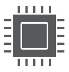microchip core glyph icon electronic and digital vector image