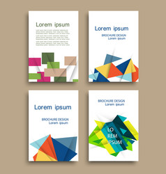 modern brochure cover template with color vector image
