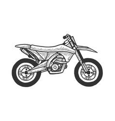motocross motorcycle sketch engraving vector image