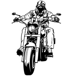 motorcyclist from gang vector image