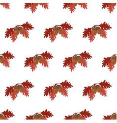 oak leaf and acorn pattern vector image
