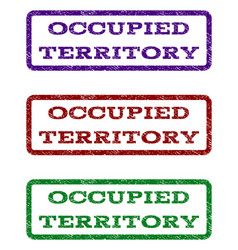 Occupied territory watermark stamp vector
