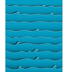 Ocean or sea waves background vector